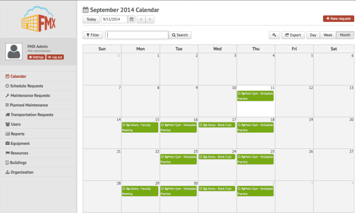SR Calendar